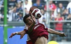 Football - soccer: germany first division, 1. Bundesliga, 2007/2008, Hamburger SV (HSV) - 1. FC Nuernberg, Zvjezdan Misimovic (FCN), Miso Brecko (HSV).copyright: HOCH ZWEI / Henning Angerer