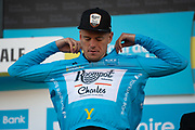 Jesper Asselman of Roompot–Charles on stage at the end of stage 2 of the Tour de Yorkshire from Barnsley to Bedale, Barnsley, United Kingdom on 3 May 2019.