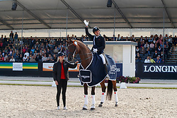 Jurado Lopez Severo Jesus, ESP, Fiontini<br /> Longines FEI/WBFSH World Breeding Dressage Championships for Young Horses - Ermelo 2017<br /> © Hippo Foto - Dirk Caremans<br /> 05/08/2017