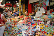 Tel Aviv, Israel, stall selling sweets at the Carmel Market