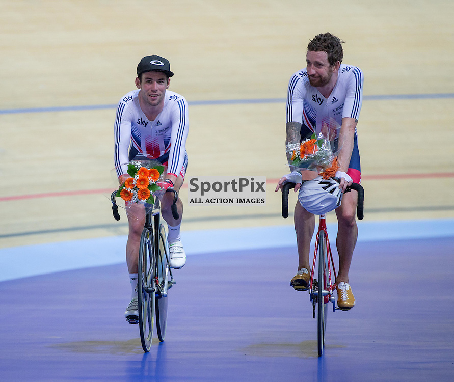 Mark Cavendish and Sir Bradley Wiggins win the Madison at the Revoultion Series 2015/6 Round 1 Derby, Day 3, on 16 August 2015 ( (Photo by Mike Poole - Photopoole)