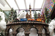 One of the trains on the Huntington Holiday Train display inside the main branch of the Columbus Metropolitan Library in downtown Columbus, Sunday, November 25, 2012..The trains are setup by Applied Imagination on Saturday and Sunday and will run through mid-January.