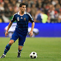 14 October 2008: French midfielder Yohann Gourcuff #8 dribbles the ball during the friendly football match won 3-1 by France over Tunisia on October 14, 2008, at the Stade de France in Saint-Denis, near Paris, France.
