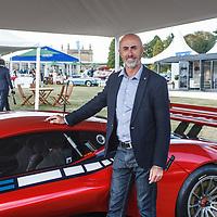 David Brabham with BT62 at the Salon Privé, 31 August - 1 September 2018