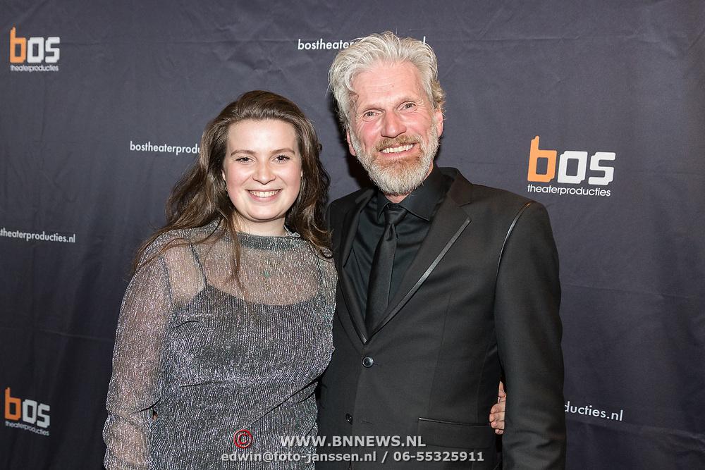 NLD/Amsterdam/20180222 - Premiere Vele Hemels boven de Zevende, Rob Snoek en dochter Louise Snoek