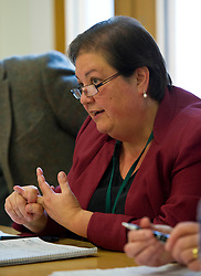 Pictured: Jackie Baillie MSP <br /> <br /> Labour Economy spokeswoman Jackie Baillie MSP today  unveiled an independente study by economists Jim and Margaret Cuthbert into how the Scottish Futures Trust operates. <br /> <br /> Ger Harley | EEm 18 October 2017