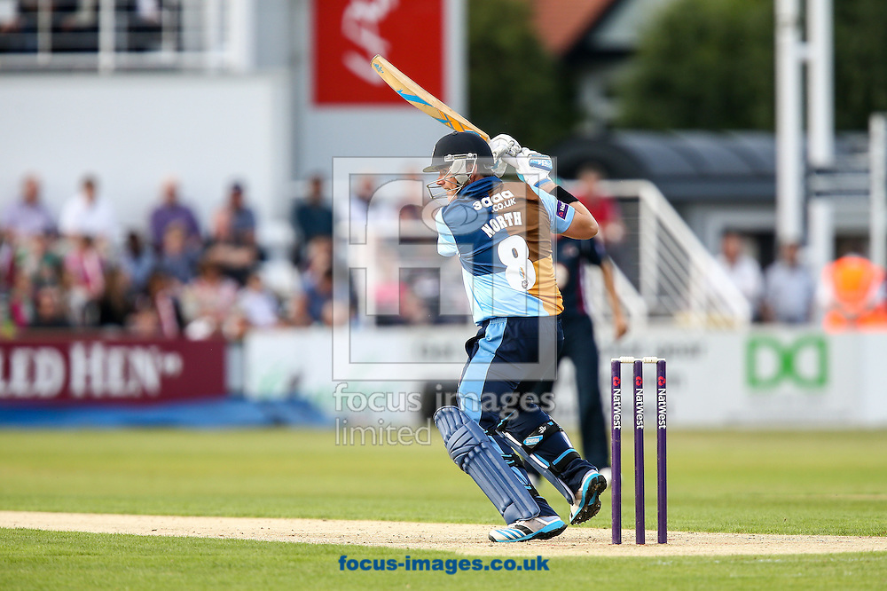 Marcus North of Derbyshire Falcons during the Natwest T20 Blast match at the County Ground, Northampton<br /> Picture by Andy Kearns/Focus Images Ltd 0781 864 4264<br /> 11/07/2014