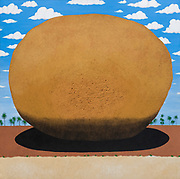 Mike Harridge.  Krishna's Butterball.<br /> 37&quot; x 39&quot;<br /> Acrylic on canvas.<br /> 110,000/-