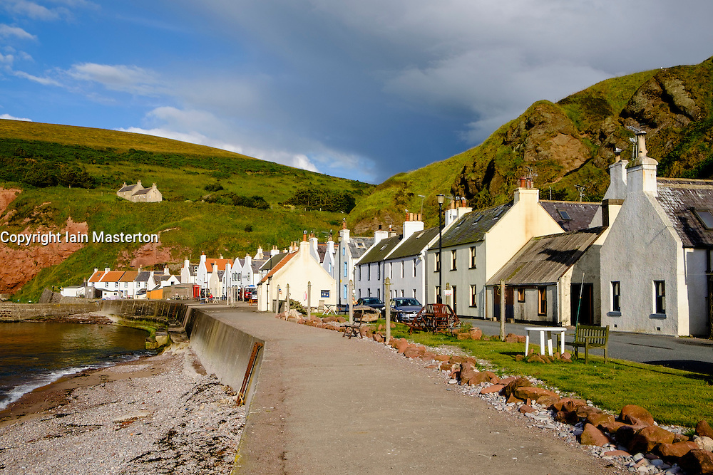 Historic coastal village of Pennan in Aberdeenshire in Scotland United Kingdom