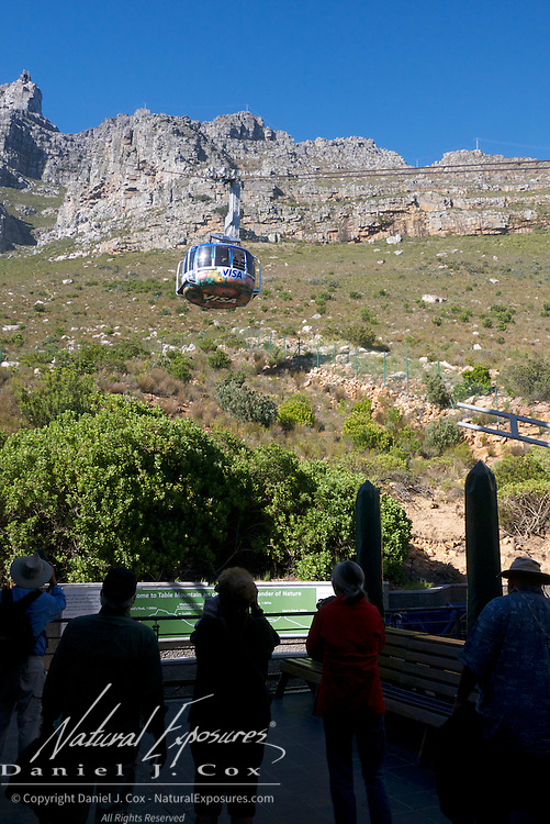 Our photo group prepares to take the gondola to the top of Table Mountain, Cape Town, South Africa.