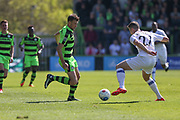 Forest Green Rovers Christian Doidge(9) and Dagenham's Shaun Donnellan(27) during the Vanarama National League Play Off second leg match between Forest Green Rovers and Dagenham and Redbridge at the New Lawn, Forest Green, United Kingdom on 7 May 2017. Photo by Shane Healey.