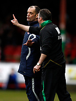 Photo: Richard Lane/Richard Lane Photography. Swindon Town v Norwich City. Coca-Cola Football League One. 20/03/2010. Norwich's manager, Paul Lambert is held back by the fourth officail.