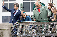 Aarhus , 16-04-2017 <br /> <br /> Queen Magrethe celebretes her 77th birthday at Marselisborg Castle with her family members.<br /> <br /> COPYRIGHT: ROYALPORTRAITS EUROPE/ BERNARD RUEBSAMEN
