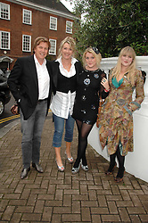 THEO & LOUISE FENNELL and their daughters EMERALD & COCO at the annual Sir David & Lady Carina Frost Summer Party in Carlyle Square, London SW3 on 5th July 2007.<br /><br />NON EXCLUSIVE - WORLD RIGHTS