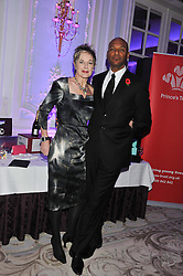 COLIN SALMON and FIONA HAWTHORNE at the Quintessentially Foundation poker evening at The Savoy Hotel, London on 30th October 2012.