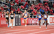 Dina Asher-Smith (GBR) wins the women's 200m in 22.18 during the Bauhaus-Galan in a IAAF Diamond League meet at Stockholm Stadium in Stockholm, Sweden on Thursday, May 30, 2019. From left: Irene Ekelund (SWE), Jenna Prandini (USA), Dafne Schippers (NED), Elaine Thompson (JAM) and Asher-Smith. (Jiro Mochizuki/Image of Sport)