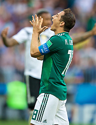 MOSCOW, RUSSIA - Sunday, June 17, 2018: Mexico's Andres Guardado looks dejected after missing a chance during the FIFA World Cup Russia 2018 Group F match between Germany and Mexico at the Luzhniki Stadium. (Pic by David Rawcliffe/Propaganda)