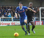 Peter Vincenti, Donervon Danielsduring the Sky Bet League 1 match between Rochdale and Wigan Athletic at Spotland, Rochdale, England on 14 November 2015. Photo by Daniel Youngs.