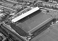 A141(A) Croke Park.    (Part of the Independent Newspapers Ireland/NLI collection.)<br /> <br /> <br /> These aerial views of Ireland from the Morgan Collection were taken during the mid-1950's, comprising medium and low altitude black-and-white birds-eye views of places and events, many of which were commissioned by clients. From 1951 to 1958 a different aerial picture was published each Friday in the Irish Independent in a series called, 'Views from the Air'.<br /> The photographer was Alexander 'Monkey' Campbell Morgan (1919-1958). Born in London and part of the Royal Artillery Air Corps, on leaving the army he started Aerophotos in Ireland. He was killed when, on business, his plane crashed flying from Shannon.