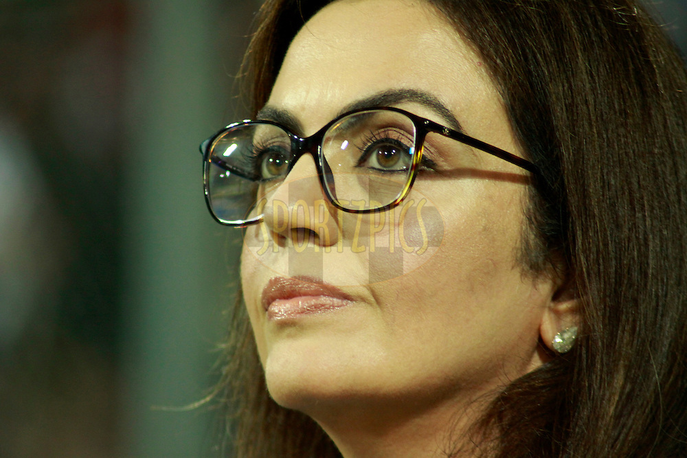 Owner of Mumbai Indians Nita Ambani during match 12 of the the Indian Premier League ( IPL) 2012  between The Mumbai Indians and the Rajasthan Royals held at the Wankhede Stadium in Mumbai on the 11th April 2012..Photo by Sandeep Shetty/IPL/SPORTZPICS