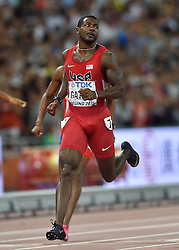 26-08-2015 CHN: IAAF World Championships Athletics day 5, Beijing<br /> Justin Gatlin winning at 200 m Men<br /> Photo by Ronald Hoogendoorn / Sportida