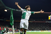 Fussball  UEFA Pokal  Viertelfinale  Rueckspiel  Saison 2006/2007 SV Werder Bremen - AZ Alkmaar              DIEGO (Bremen) jubelt nach dem 4:1