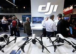 dji Phantom drone stand at Photokina trade fair in Cologne, Germany , 2016