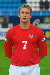 KIEV, UKRAINE - Tuesday, June 5, 2001: Wales' Stephen Thomas lines-up before the Under-21 World Cup Qualifying match against Ukraine at the Dynamo Stadium. (Pic by David Rawcliffe/Propaganda)
