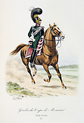 Mounted officerof the bodyguard of the heir to the throne.  From 'Histoire de la maison militaire du Roi de 1814 a 1830' by Eugene Titeux, Paris, 1890.