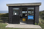 Seawatch building, Dunwich Heath, Suffolk, England. Seawatch is a UK based cetacean monitoring unit and charity organisation.