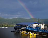 Newburgh, New York - A rainbow over the Hudson River on  Aug. 14, 2014.