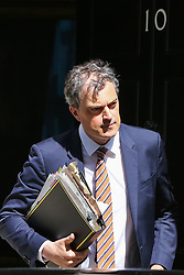 © Licensed to London News Pictures. 30/04/2019. London, UK. Julian Smith - Parliamentary Secretary to the Treasury (Chief Whip) departs from No 10 Downing Street after attending the weekly Cabinet meeting. Photo credit: Dinendra Haria/LNP