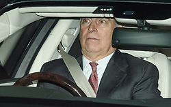 © Licensed to London News Pictures. 21/11/2019. London, UK. Prince Andrew, The Duke of York, is seen leaving Buckingham Palace. Prince Andrew is stepping down from official duties following a Newsnight interview on his relationship with Jeffrey Epstein. Photo credit: Ben Cawthra/LNP