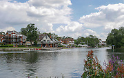 Maidenhead, ENGLAND   Maidenhead Town Regatta, River Thames.  General View of Maidenhead Bridge and crews boating to compete in the regatta.16:59:50  Saturday  08/08/2015   [Mandatory Credit. Peter SPURRIER/ Intersport Images.