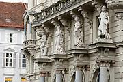 Rathausfassade, Hauptplatz, UNESCO Welterbestätte Stadt Graz – Historisches Zentrum, Steiermark, Österreich | City Hall facade, the main square, a UNESCO World Heritage Site city of Graz - Historic Centre, Steiermark, Austria