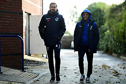 Edward Upson of Bristol Rovers and Kyle Bennett of Bristol Rovers arrives at Memorial Stadium prior to kick off - Mandatory by-line: Ryan Hiscott/JMP - 10/11/2019 - FOOTBALL - Memorial Stadium - Bristol, England - Bristol Rovers v Bromley - Emirates FA Cup first round