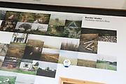PhotoEast photography exhibition festival, Ipswich, Suffolk, England, UK 2018 display of  Border Walks images by Giuletta Verdon-Roe