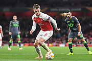 Arsenal Midfielder Aaron Ramsey (8) during the Europa League group stage match between Arsenal and Sporting Lisbon at the Emirates Stadium, London, England on 8 November 2018.