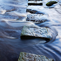 Stepping Stones over Kex Beck near Beamsley