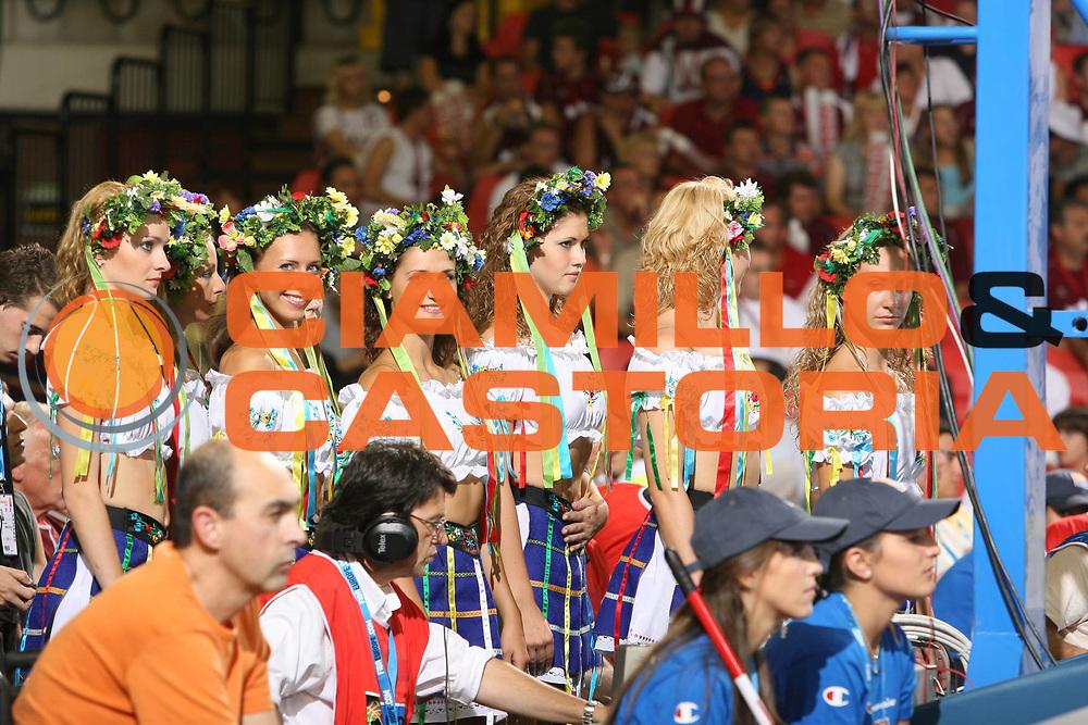 DESCRIZIONE : Siviglia Sevilla Spagna Spain Eurobasket Men 2007 Portogallo Lettonia Portugal Latvia <br /> GIOCATORE : Cheerleaders <br /> SQUADRA : Portogallo Portugal <br /> EVENTO : Eurobasket Men 2007 Campionati Europei Uomini 2007 <br /> GARA : Portogallo Lettonia Portugal Latvia <br /> DATA : 05/09/2007 <br /> CATEGORIA : <br /> SPORT : Pallacanestro <br /> AUTORE : Ciamillo&amp;Castoria/E.Castoria <br /> Galleria : Eurobasket Men 2007 <br /> Fotonotizia : Sevilla Spagna Spain Eurobasket Men 2007 Portogallo Lettonia Portugal Latvia <br /> Predefinita :