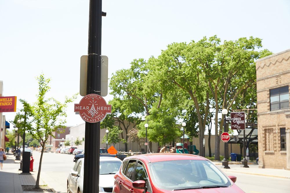 Hear Here Signs downtown La Crosse