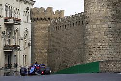 April 28, 2018 - Baku, Azerbaijan - GASLY Pierre (fra), Scuderia Toro Rosso Honda STR13, action during the 2018 Formula One World Championship, Grand Prix of Europe in Azerbaijan from April 26 to 29 in Baku  (Credit Image: © Hoch Zwei via ZUMA Wire)
