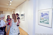 """Exposition """"de la gare à la galerie"""" pour souligner un don de 60 d'oeuvres d'art de Canadian Pacific à l'Artothèque. -  L'Artothèque / Montréal / Canada / 2011-06-09, Photo : © Marc Gibert/ adecom.ca"""