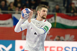 HRSTKA Jakub of Czech Republic during handball match between National teams of Spain and Czech Republic on Day 2 in Preliminary Round of Men's EHF EURO 2018, on Januar 13, 2018 in Skolsko Sportska Dvorana, Varazdin, Croatia. Photo by Mario Horvat / Sportida