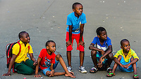 Boys,  Church Sqaure (Kerkplein),  Pretoria (Tshwane), South Africa., South Africa.