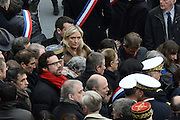 TRIBUTE TO THE VICTIMS OF 13 November 2015 in PARIS<br /> Marine Le Pen<br /> ©Exclusivepix Media