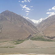 Remains of fort along the strategic Wakhan Valley