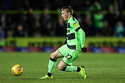 Forest Green Rovers Ben Morris(22) on the ball during the EFL Trophy group stage match between Forest Green Rovers and U21 Arsenal at the New Lawn, Forest Green, United Kingdom on 7 November 2018.