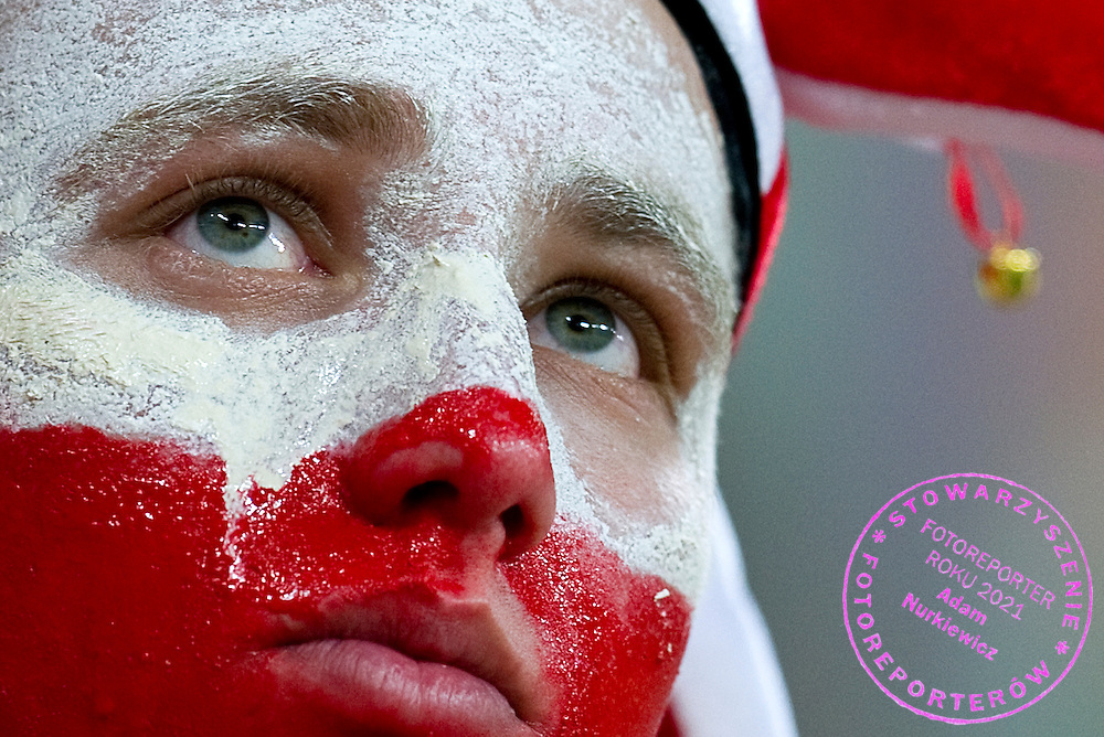 Poland's supporter after the UEFA EURO 2012 Group A football match between Poland and Czech Republic at Municipal Stadium in Wroclaw on June 16, 2012...Poland, Wroclaw, June 16, 2012..Picture also available in RAW (NEF) or TIFF format on special request...For editorial use only. Any commercial or promotional use requires permission...Photo by © Adam Nurkiewicz / Mediasport