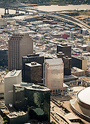 Aerial view of the Energy Centre building in downtown New Orleans; 909 Poydras Street
